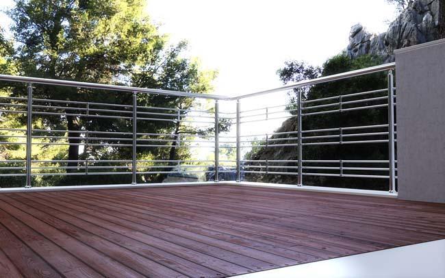 Ringhiere moderne in alluminio per interni ed esterni m8100 - Ringhiere scale esterne ...