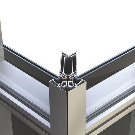 facciate continue in vetro strutturali M85S