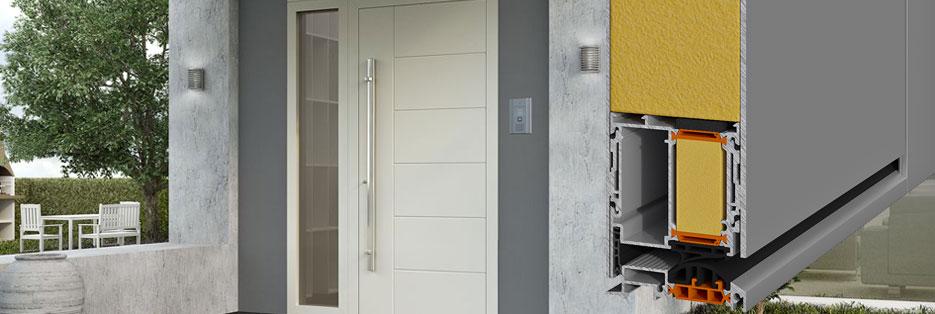 Porte d'ingresso Alumil SD77: elevata estetica in totale armonia con sicurezza e comfort