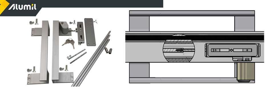Alumil S650 maniglia con chiave